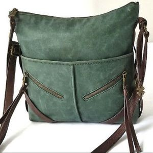 Lucky Brand Brown Leather Abbey Road Crossbody